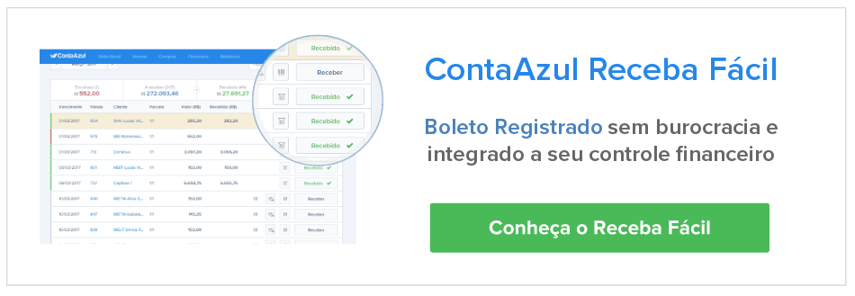 ContaAzul is a management system for small businesses, with the issue of integrated slip